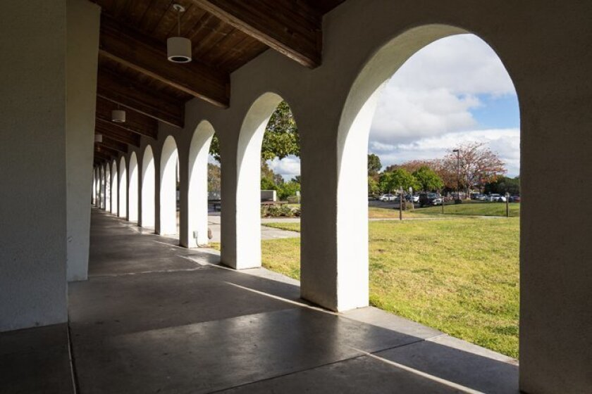 Although it is a smaller church with only 100 members, Mount Soledad Presbyterian Church has a large, active group of missionary programs. Among the church's architectural features are arches and columns around the building.