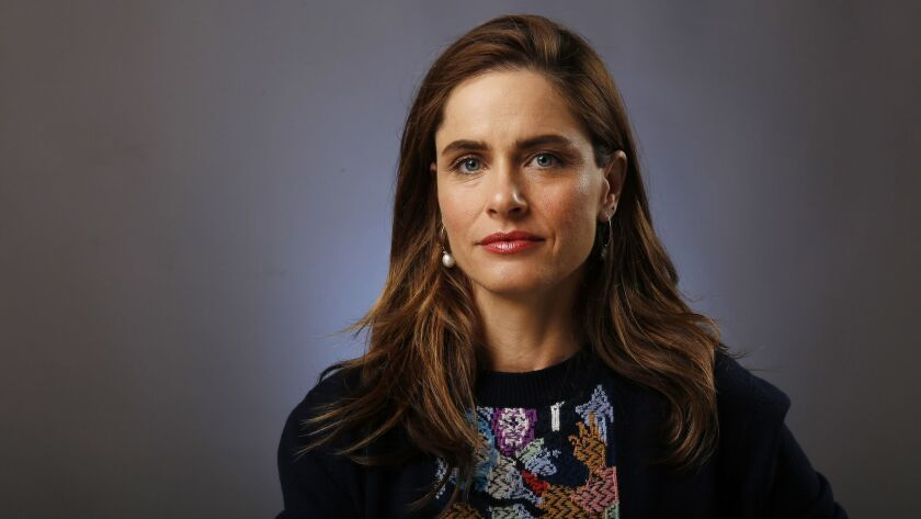 LOS ANGELES, CA - MAY 8, 2017- Actress Amanda Peet in the LA Times studio May 8, 2017. Peet plays th