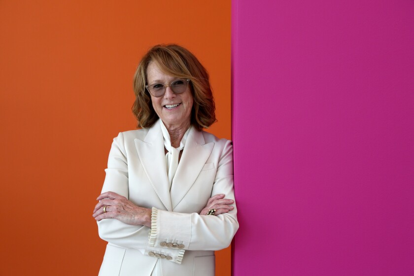 LOS ANGELES, CA- May 25, 2018: Ann Philbin, director of The Hammer Museum, is photographed at the m