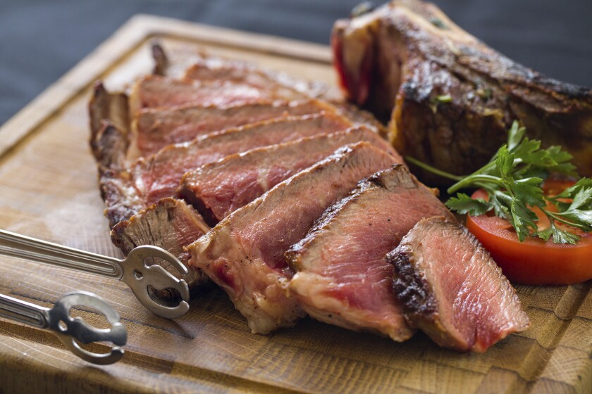 Aw, we want the funk, got to have that funk: Lou & Mickey's 30 day dry-aged ribeye steak was funk free.