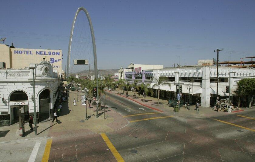 Una de las principales calles del centro de Tijuana.
