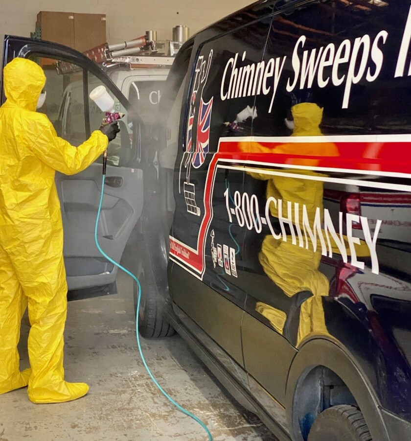 Chimney Sweeps, a family-owned company that began more than 30 years ago, is taking precautions to protect its employees and customers. Chimney Sweeps services all areas of San Diego County. For more information, call (619) 593-4020 and visit chimneysweepsinc.com