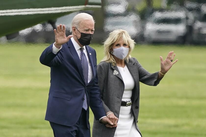 El presidente estadounidense Joe Biden y la primera dama Jill Biden