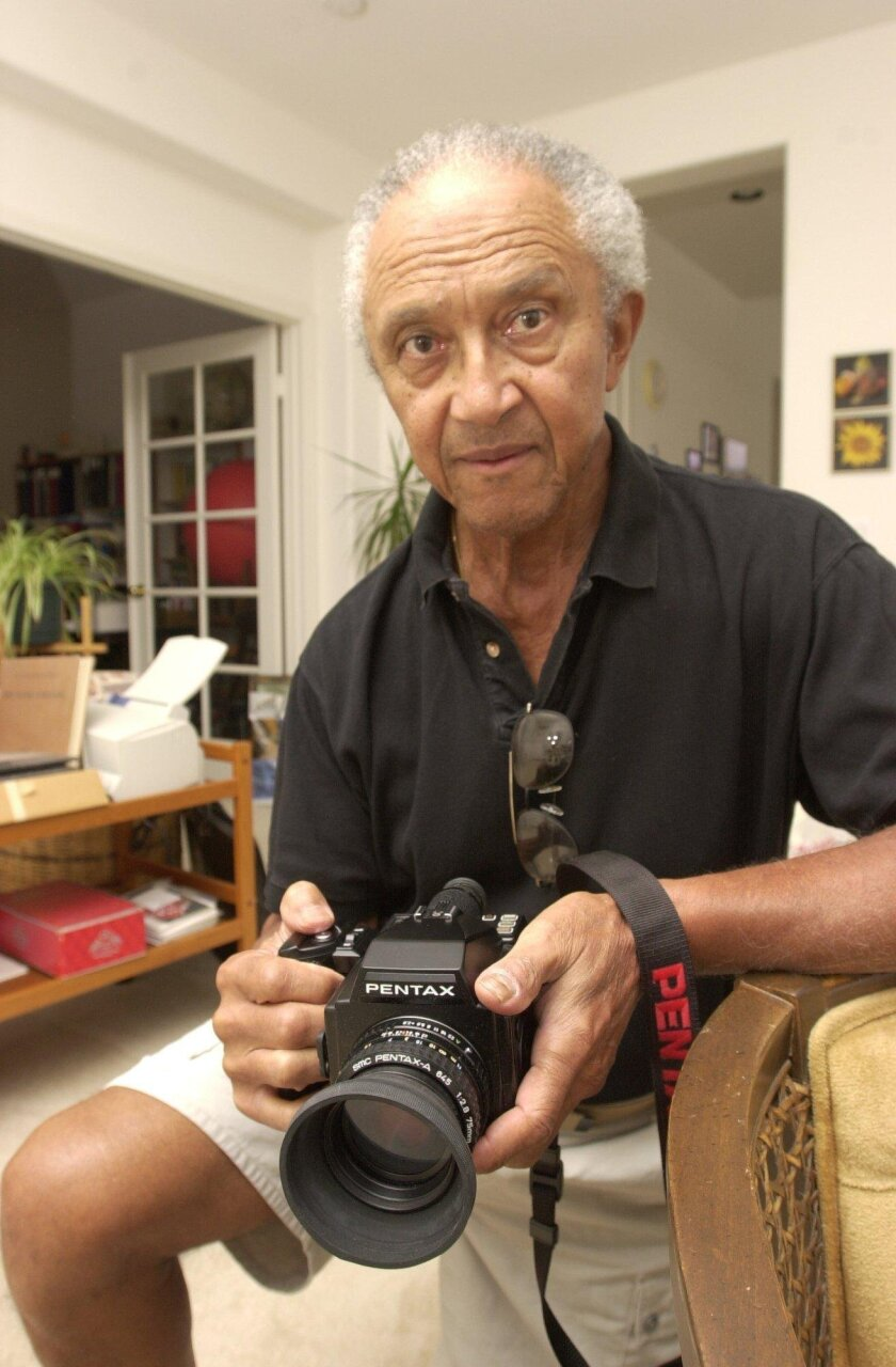 A 2002 photograph of Major Morris, a veteran photographer and educator who passed away June 11 at his Escondido home. He was 95.