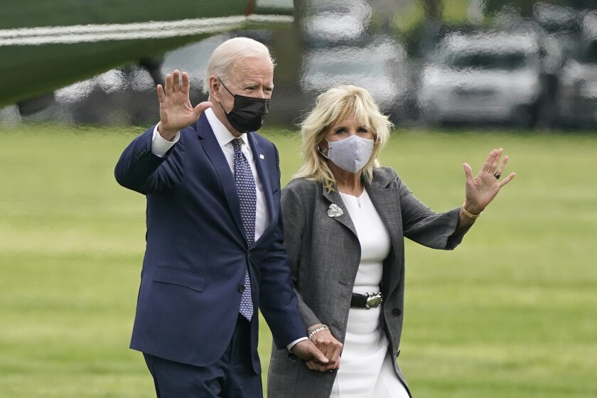 President Joe Biden and first lady Jill Biden.
