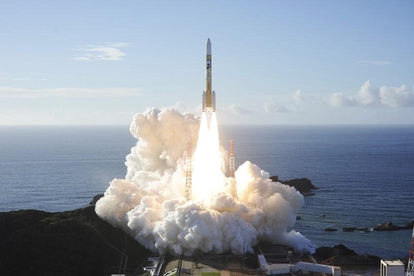 The United Arab Emirates' Mars orbiter blasts off aboard a Japanese rocket