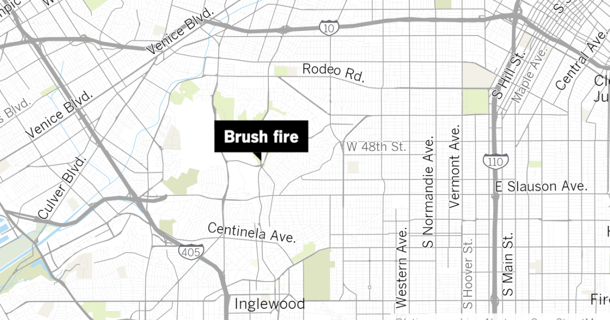 Brush fire reported in Baldwin Hills as temperatures soar