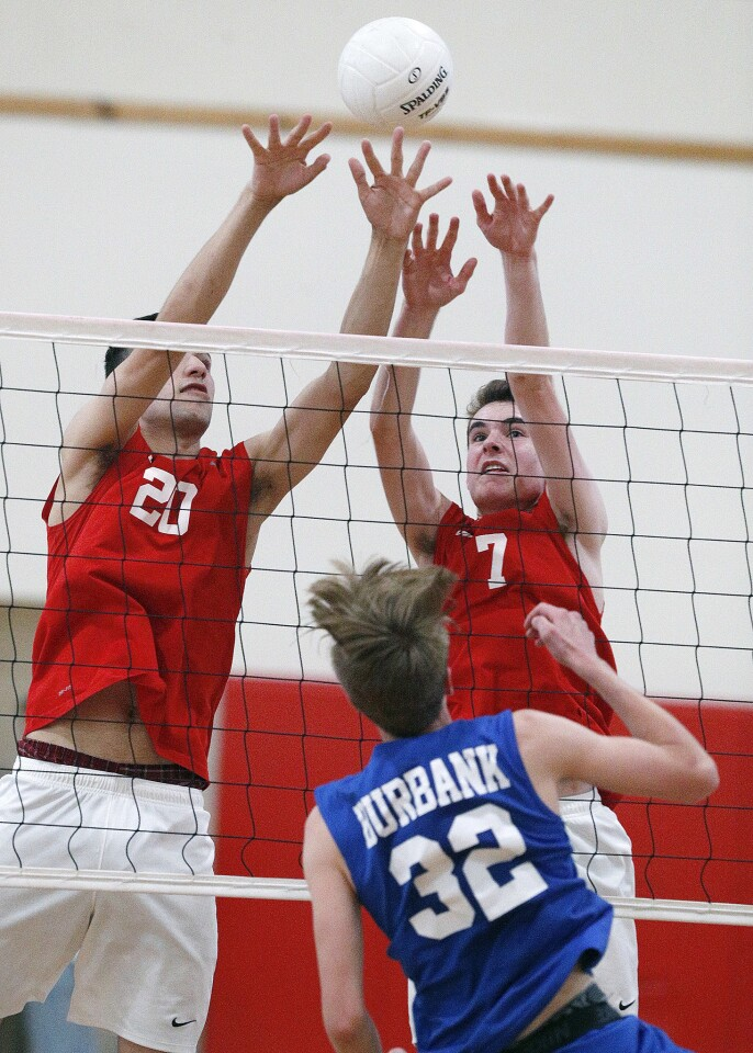 Photo Gallery: Burbank vs. Burroughs in Pacific League boys' volleyball