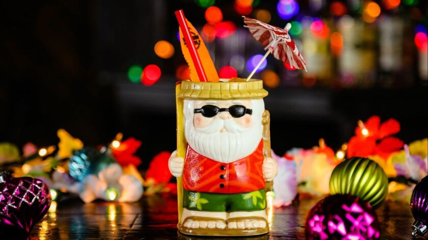 The Sippin' Santa, one of this season's festive holiday cocktails at Polite Provisions, which is hosting a 2018 Miracle Pop-Up tiki-themed event through Dec. 31.