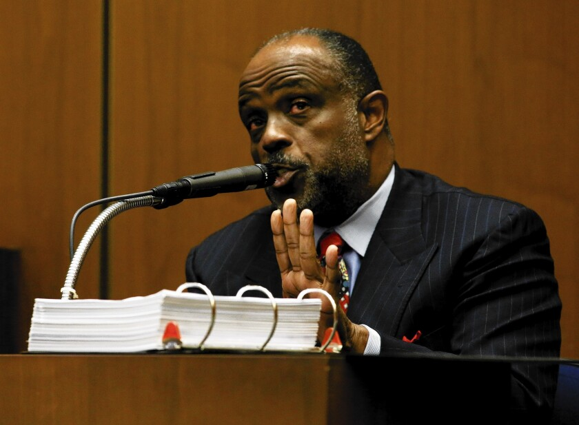State Sen. Roderick D. Wright testifies during his trial. He is accused of perjury and voter fraud.