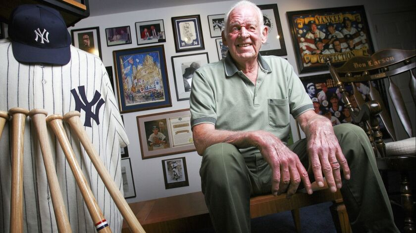 Former New York Yankees pitcher Don Larsen in 2006