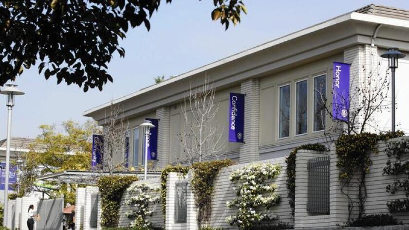 Marlborough School, en Hancock Park, donde un profesor fue acusado por delitos sexuales que inplicaban a una menor de edad.