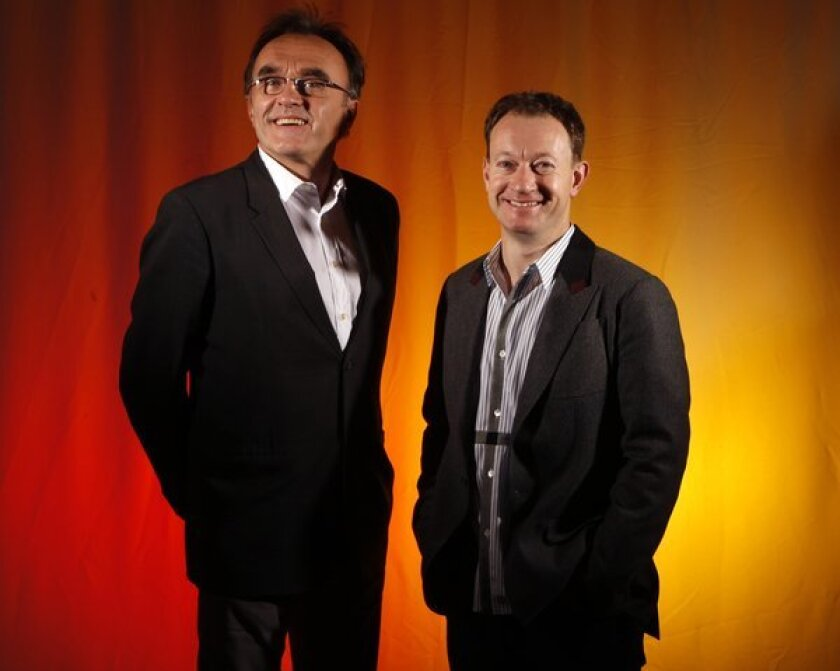 Director Danny Boyle and writer Simon Beaufoy in 2010.