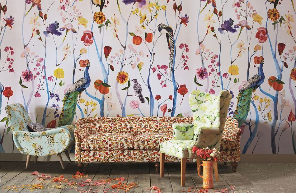 Anthropologie has partnered with NYC-based Voutsa to create the Garden Chinoiserie Mural for summer. It is six panels wide and retails for $228.