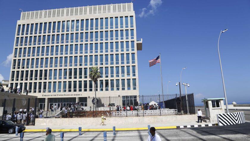 The U.S. embassy in Havana in August 2015.