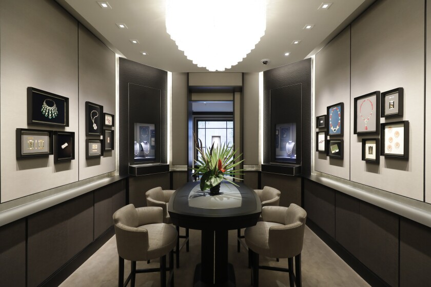 Salon 1906 at Van Cleef & Arpels' renovated Rodeo Drive store in Beverly Hills.