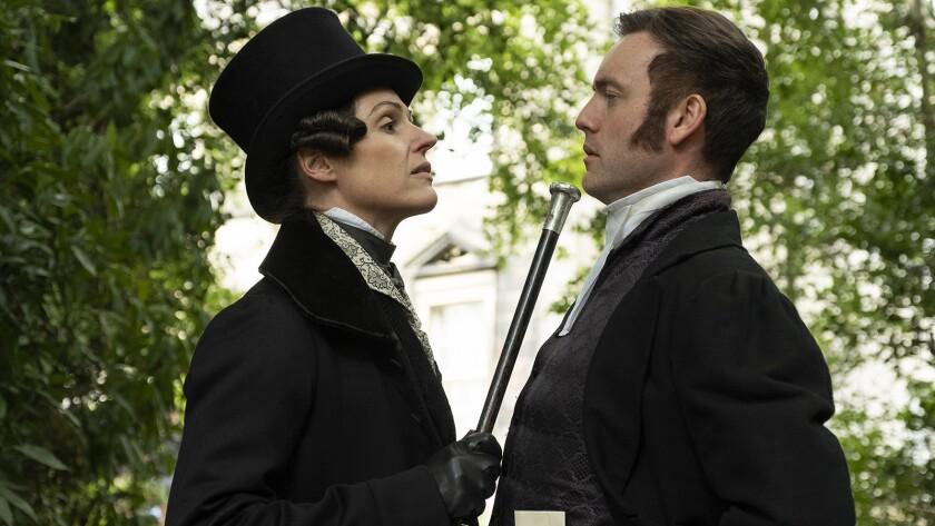 "Suranne Jones and Brendan Patricks in ""Gentleman Jack"" on HBO."