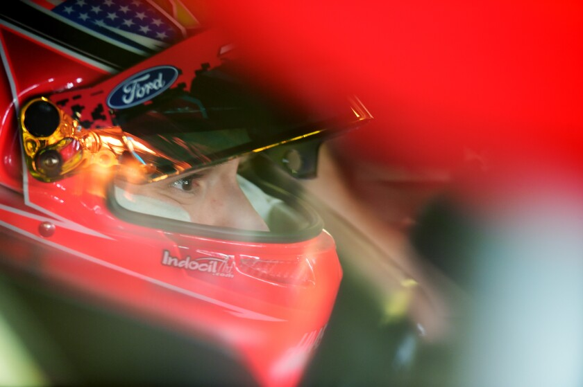 LOUDON, NEW HAMPSHIRE - JULY 20: Daniel Suarez, driver of the #41 Haas Automation Ford, sits in his car during practice for the Monster Energy NASCAR Cup Series Foxwoods Resort Casino 301 at New Hampshire Motor Speedway on July 20, 2019 in Loudon, New Hampshire. (Photo by Jared C. Tilton/Getty Images) ** OUTS - ELSENT, FPG, CM - OUTS * NM, PH, VA if sourced by CT, LA or MoD **