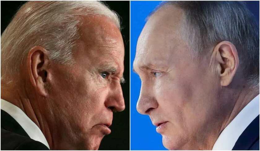 El presidente de Estados Unidos, Joe Biden, y su homólogo ruso, Vladímir Putin.