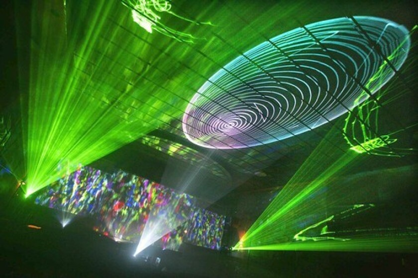 SPACEY SCENE: The Laserium show will feature new 3-D effects at the vintage Vine.