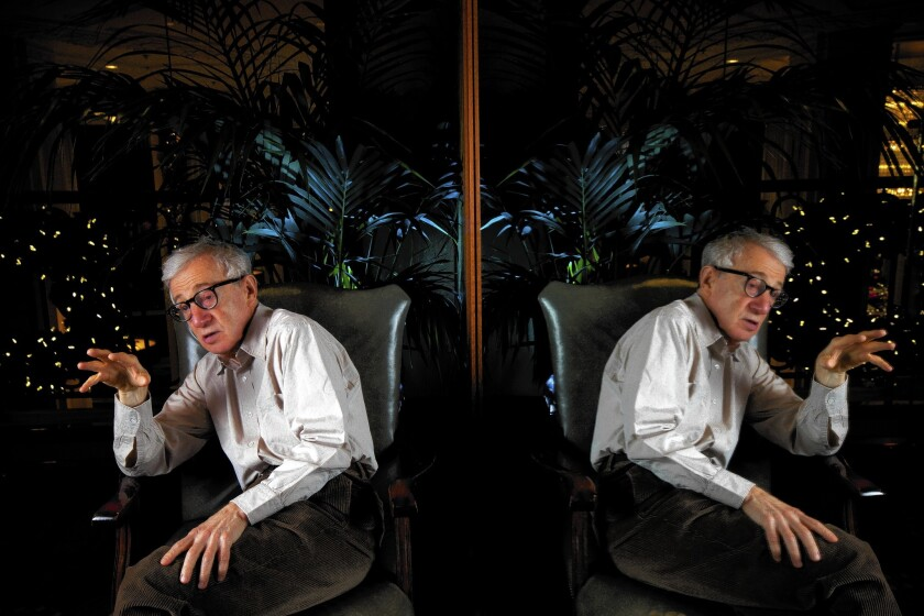Director Woody Allen will be awarded the Cecil B. DeMille Award at the Golden Globes, but he won't be there to accept it.