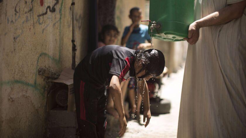 PALESTINIAN-GAZA-WEATHER