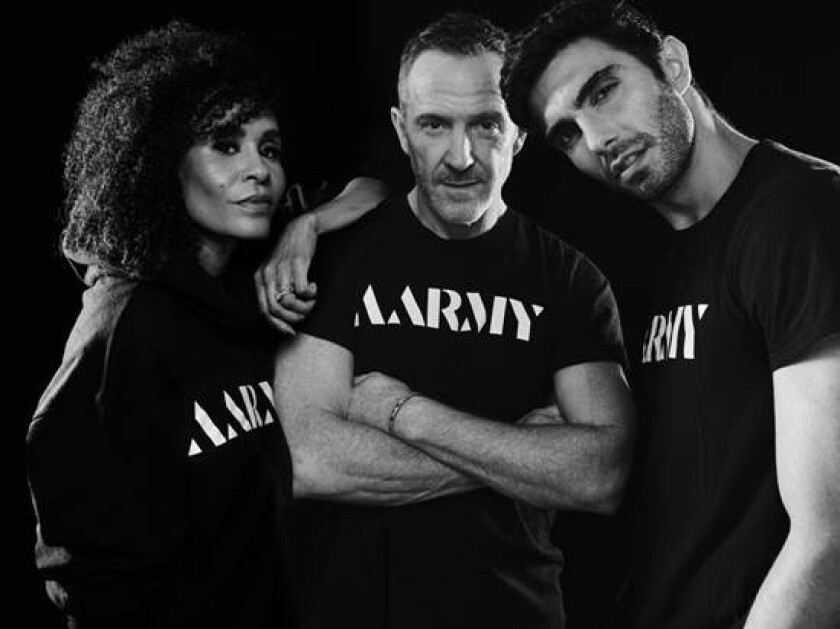 Aarmy co-founders, from left, Angela Davis, Trey Laird and Akin Akiman