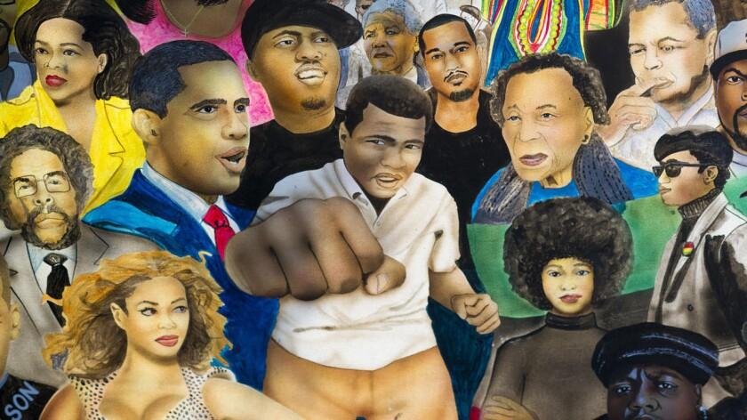 Un mural en honor a Muhammad Ali...