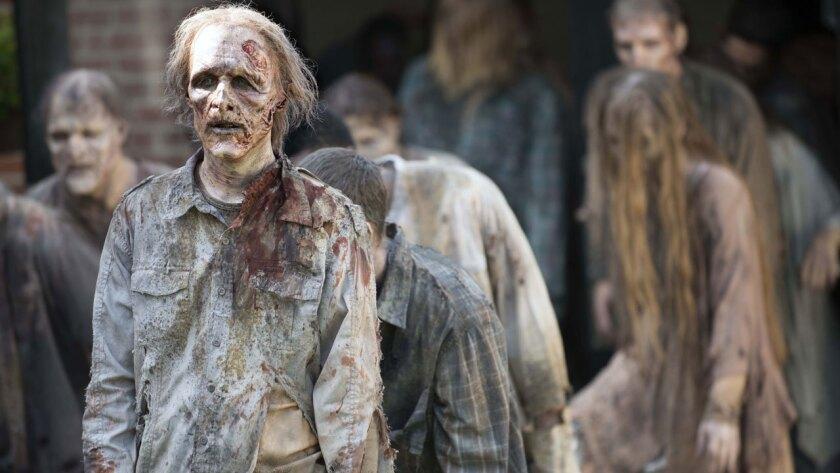 "A horde of walkers in AMC's zombie drama ""The Walking Dead."""