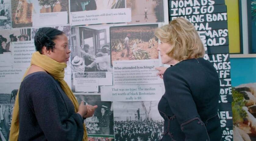 "MOMA president emerita and philanthropist Agnes Gund with artist Xaviera Simmons in the documentary ""Aggie."""
