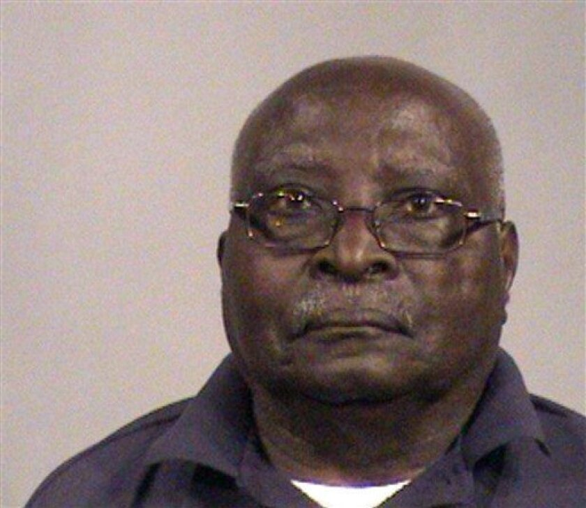 FILE - In this file photo provided by the Segwick County Sheriff's Department is Lazare Kobagaya. A federal jury convicted an 84-year-old Kansas man on Tuesday, May 31, 2011, of lying on his immigration forms about his whereabouts during the Rwanda genocide, but it did not find that the government proved its case that he took part in the mass killings. (AP Photo/Segwick County Sheriff via Wichita Eagle, File)