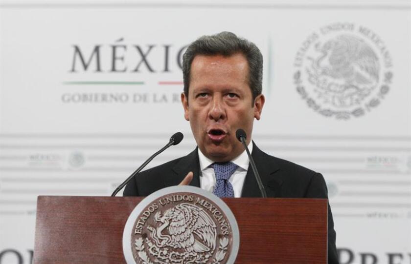 El portavoz del Gobierno, Eduardo Sánchez, habla durante una rueda de prensa. EFE/Archivo