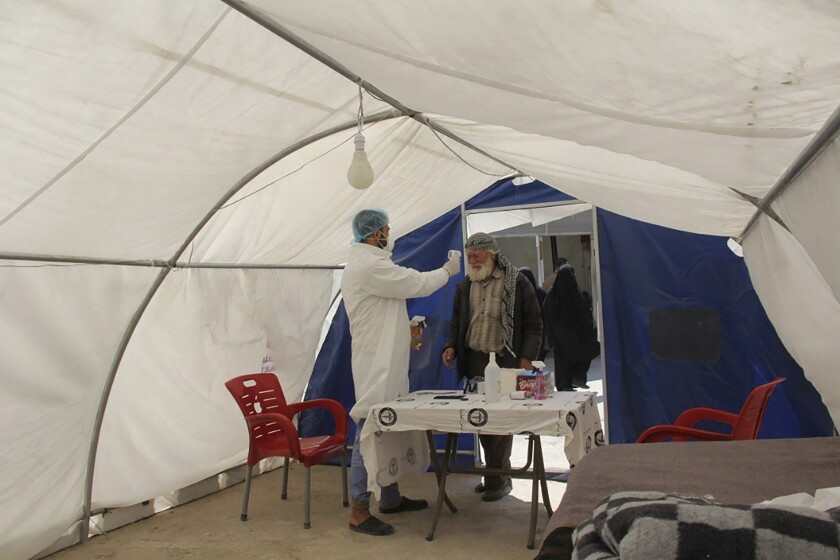 Virus Outbreak Syria Coronavirus Challenge