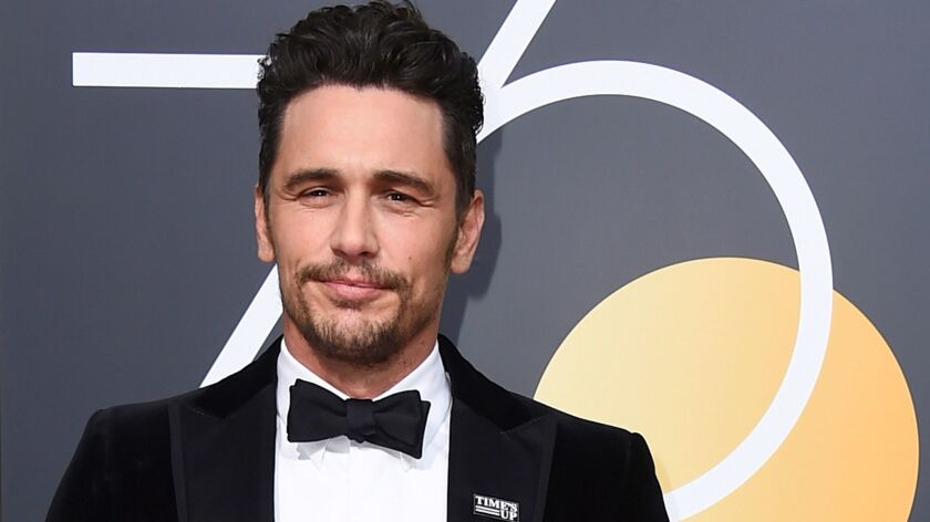 James Franco arrives at the 75th annual Golden Globe Awards in Beverly Hills on Jan. 7.