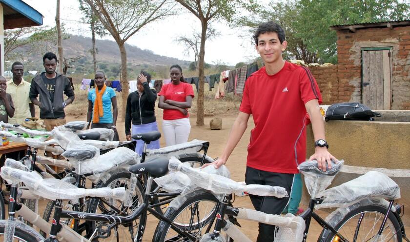 Student raises money for bikes in Kenya