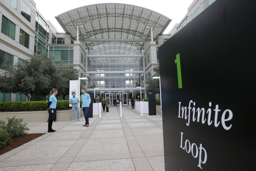 Man's body found at Apple's Cupertino, Calif., campus