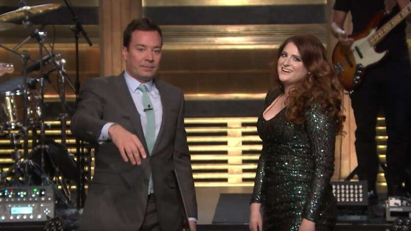 """Meghan Trainor performs on """"The Tonight Show Starring Jimmy Fallon."""""""