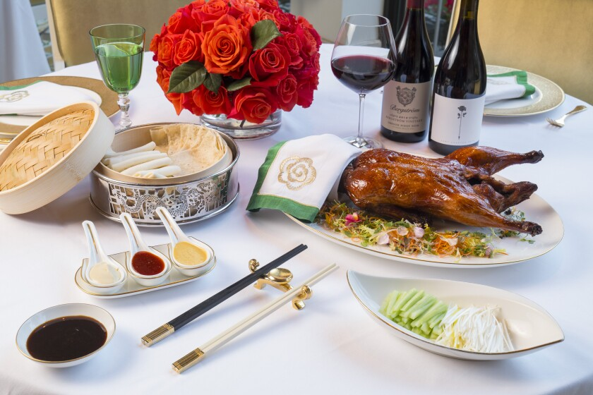 The Peking duck at Wing Lei at the Wynn.