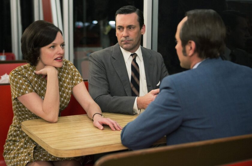"Another nonviolent dramatic moment from Season 7 of ""Mad Men."""
