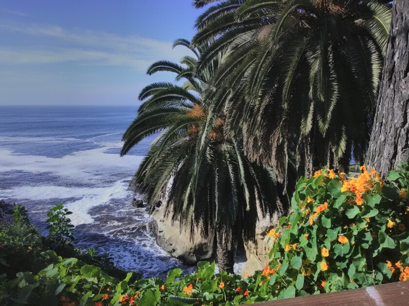 Vincent and Maria Suzara captured this view of La Jolla Cove from the start of the Coast Walk.