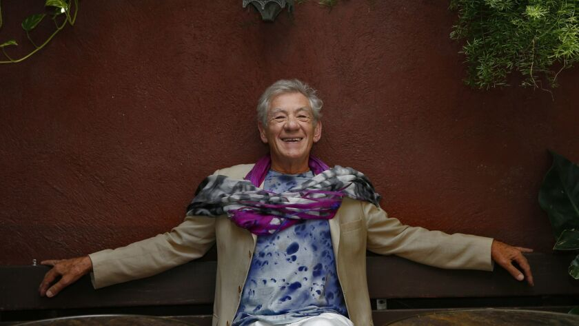 OCTOBER 9, 2015. WEST HOLLYWOOD, CA. Veteran film actor Ian McKellen, 76 photographed at the Bar
