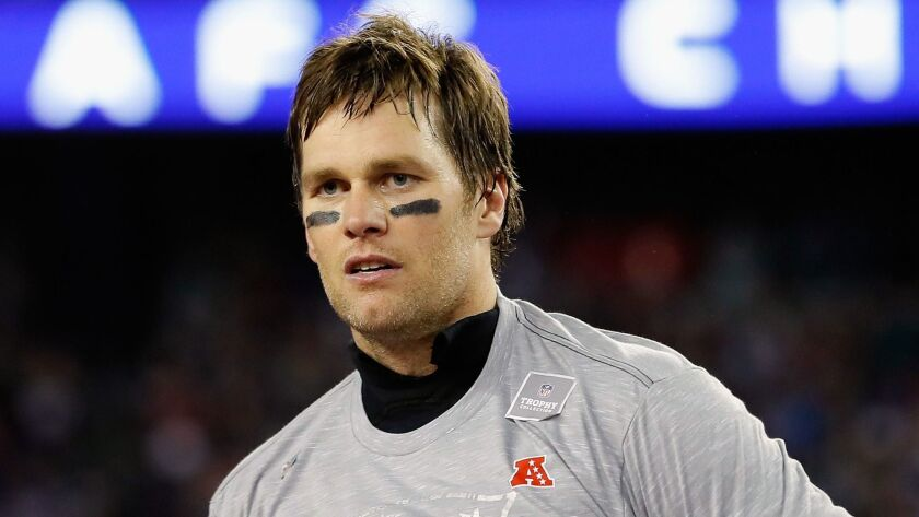 Tom Brady will lead the New England Patriots on their quest for a sixth Super Bowl victory on Sunday.