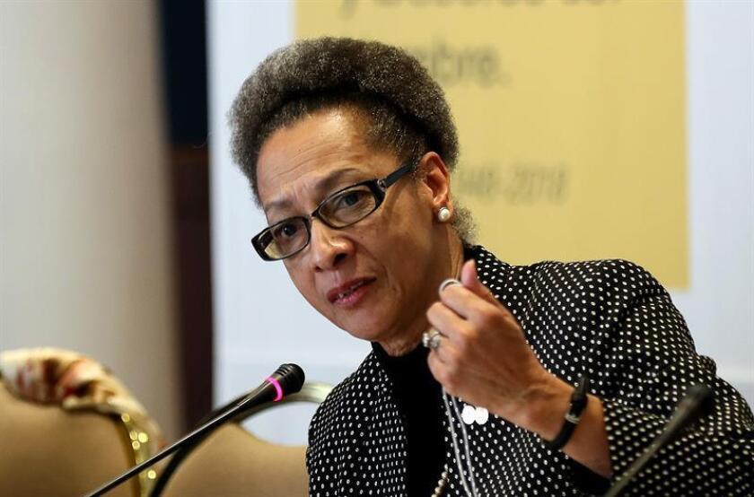La integrante de la Comisión Interamericana de Derechos Humanos, Margarette May Macaulay. EFE/Archivo