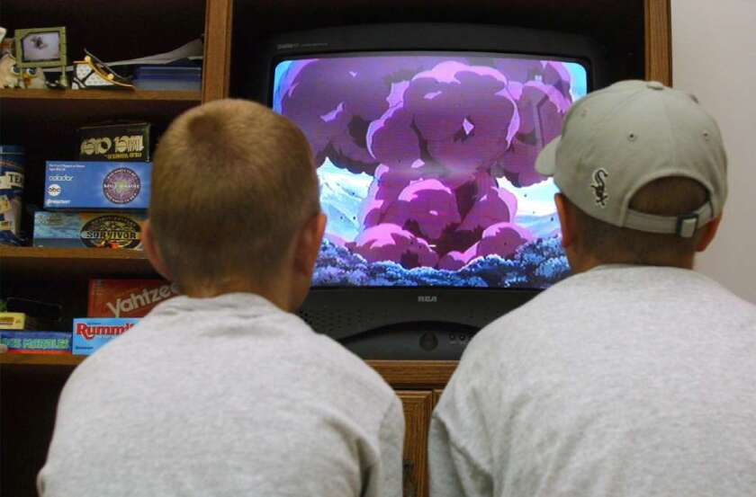 Boys in front of the TV