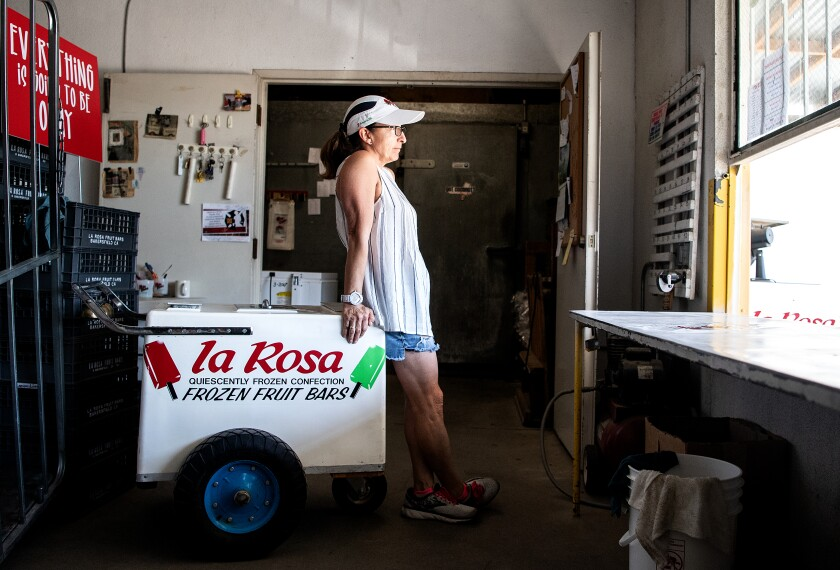 Norma Diaz, owner of La Rosa Fruit Bars & Ice Creams.