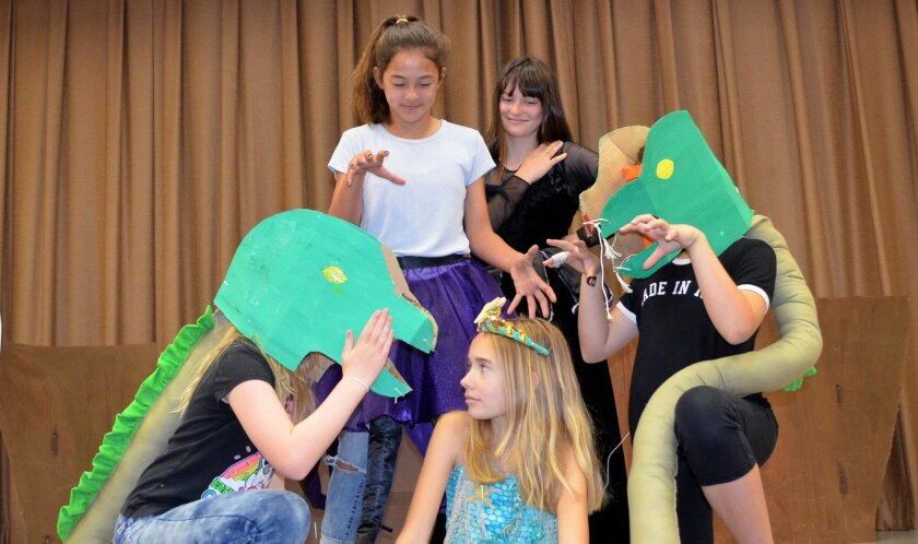 """Park Dale Lane Elementary students practice """"The Little Mermaid,"""" which hits the stage at 6 p.m. on May 19 at the school, free of charge."""
