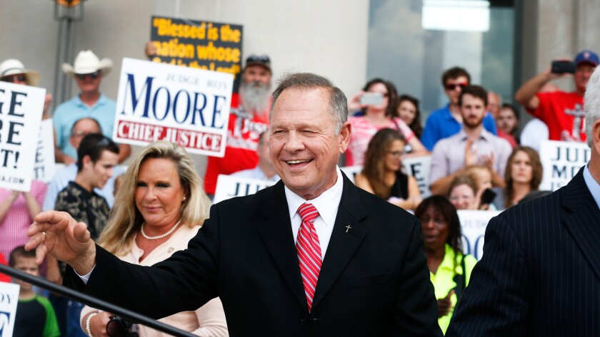 Alabama Chief Justice Roy Moore at a news conference in August.