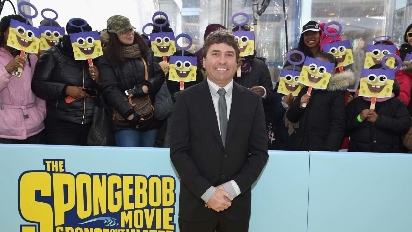 """Stephen Hillenburg attends the world premiere of """"The SpongeBob Movie: Sponge Out of Water"""" in New York in January 2015."""