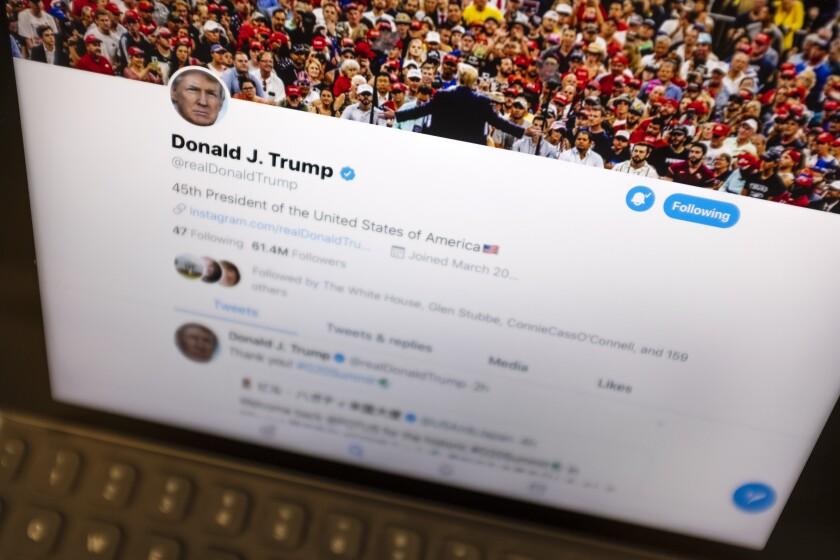 President Trump's Twitter feed