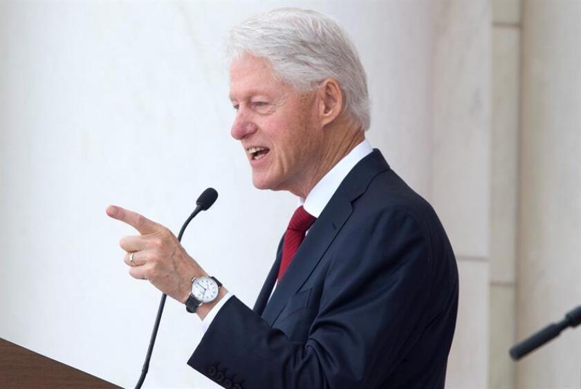 El expresidente estadounidense Bill Clinton ofrece un discurso. EFE/Archivo